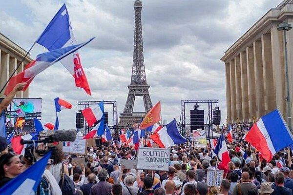 تور فرانسه: اعتراضات گسترده در فرانسه علیه واکسیناسیون اجباری کرونا